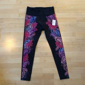 NWT paisley print nanette lepore leggings